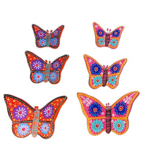 NA044 U2013 Butterfly Wall Decor (Set Of 3)