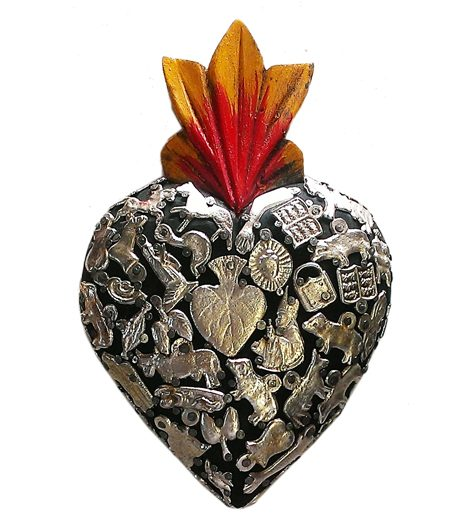 M111 Medium Milagros Heart Fandango Trading Mexican